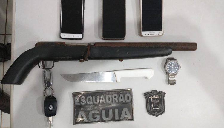 PM apreende arma de fogo e prende quatro suspeitos no bairro São Raimundo em São Luís