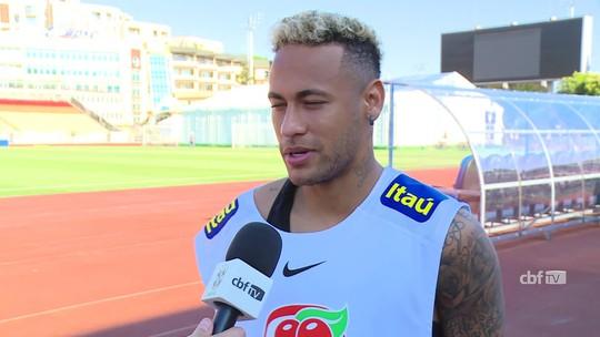 """Neymar projeta evolução contra Costa Rica e minimiza dores: """"O pé está tranquilo"""""""