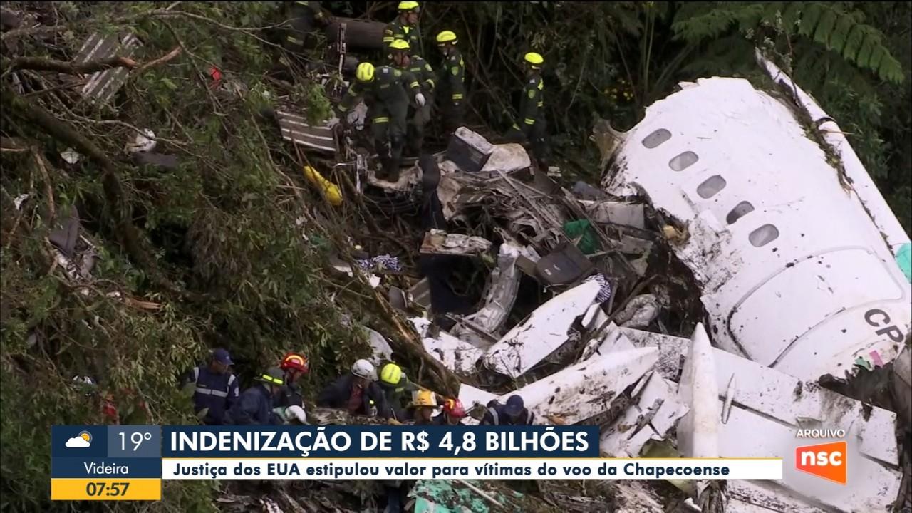 Justiça estipula valor de indenização de R$ 4,8 bilhões para vítimas do voo da Chapecoense