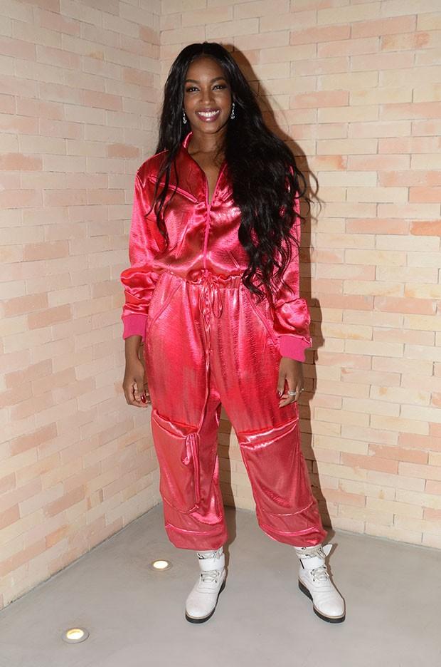 IZA no lançamento do clipe de 'Dona de Mim' (Foto: Eduardo Martins / AgNews)