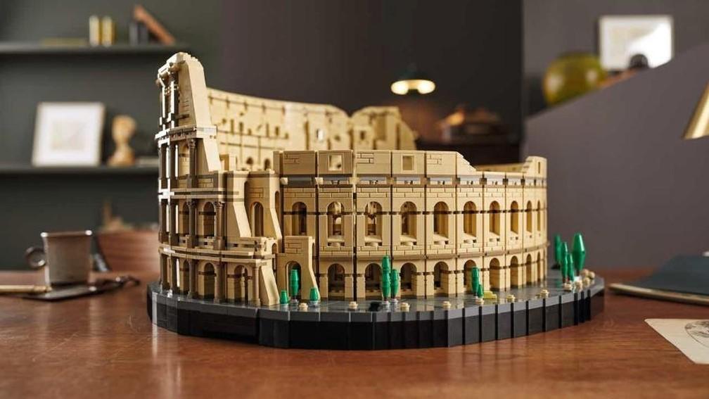 Coliseu de Roma vai ser o maior kit de Lego com mais de 9 mil peças — Foto: Divulgação