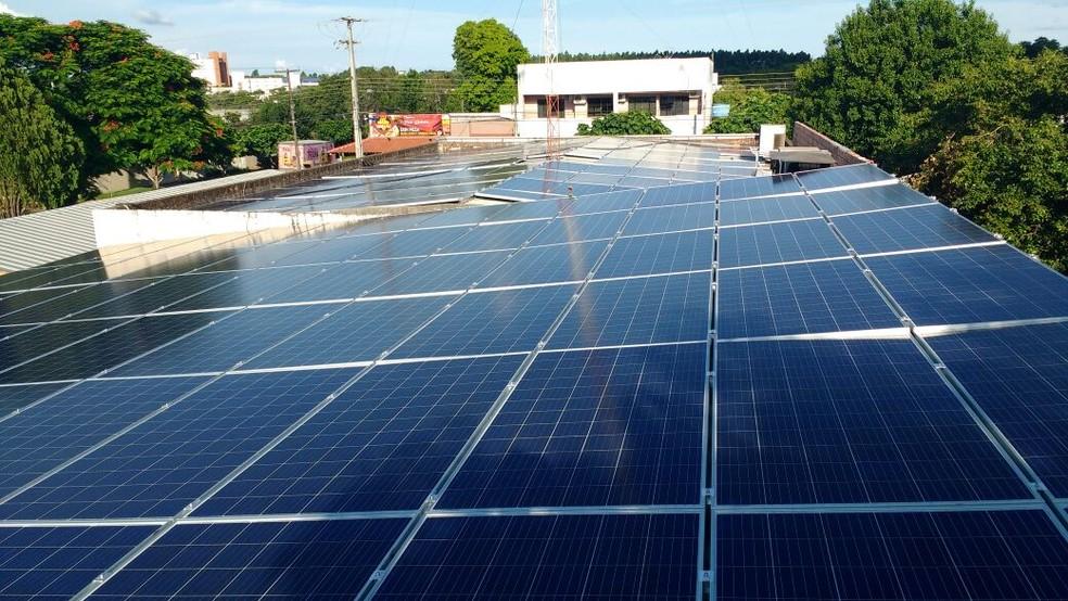 Investimento em placas fotovoltaicas pode ser recuperado em cinco anos, conforme estimativa de especialistas (Foto: Neuri Michelon/Arquivo Pessoal)