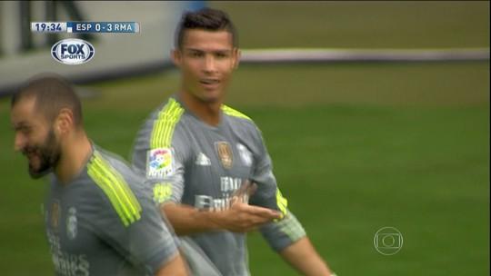Seca? Cristiano Ronaldo faz cinco gols e comanda goleada do Real Madrid