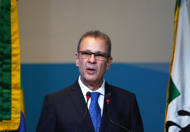 Minister of Mines and Energy, Bento Albuquerque, during the auction of the surplus from the transfer of rights, in Rio de Janeiro, 11/06/2019.  (Photo: REUTERS / Pilar Olivares)