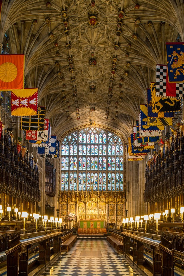 WINDSOR, UNITED KINGDOM - FEBRUARY 11: A view of the Quire in St George's Chapel at Windsor Castle, where Prince Harry and Meghan Markle will have their wedding service, February 11, 2018 in Windsor, England. The Service will begin at 1200, Saturday, May  (Foto: Getty Images)