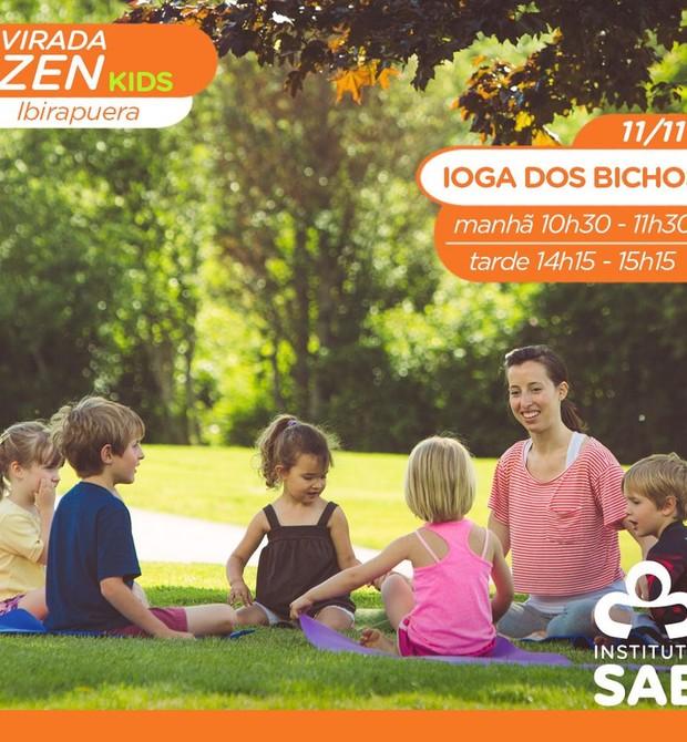 Viarada Zen Kids ofecerá ioga e meditação para as crianças (Foto: Divulgação)