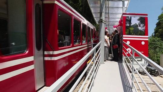 Estação Paineiras do trem do Corcovado é reinaugurada