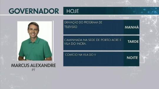 Confira a agenda dos candidatos ao Governo do Acre em 21 de setembro