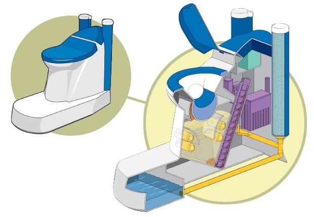 """A """"Nano Membrane Toilet"""" é uma privada projetada para transformar dejetos em energia e água limpa  (Foto: Evandro Bertol/G.LAB)"""