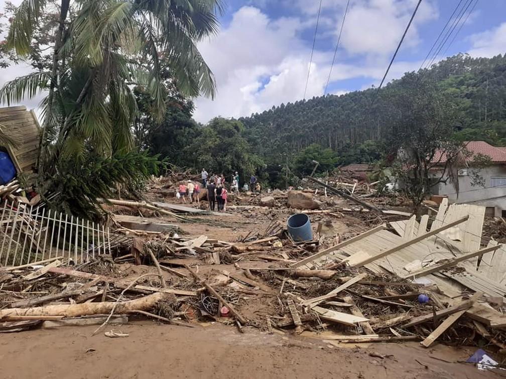 Imagem mostra município de Presidente Getúlio nesta quinta-feira (17). — Foto: Prefeitura de Presidente Getúlio/Divulgação