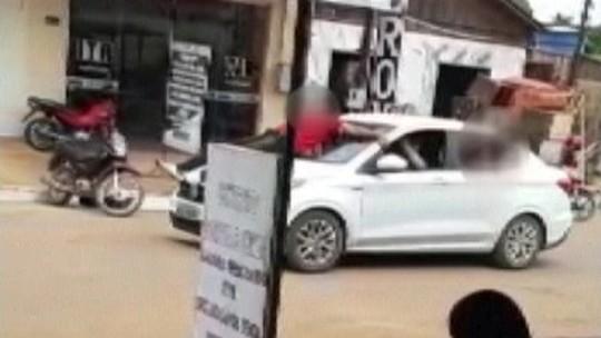 Grupo de assalto a banco faz reféns de 'escudo humano' e troca tiros com a PM no PA; veja vídeo
