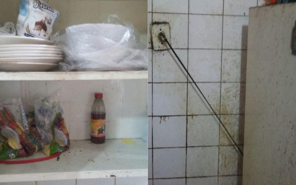 Técnicos da Vigilância Sanitária detectaram pragas e muita sujeira no local (Foto: Divulgação / FMS)