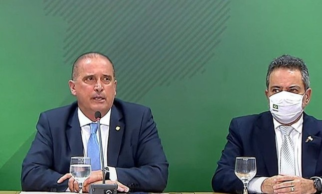 Onyx Lorenzoni e Elcio Franco