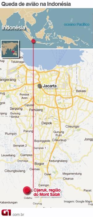 arte acidente avião indonesia 10/5 versão 2 (Foto: arte g1)