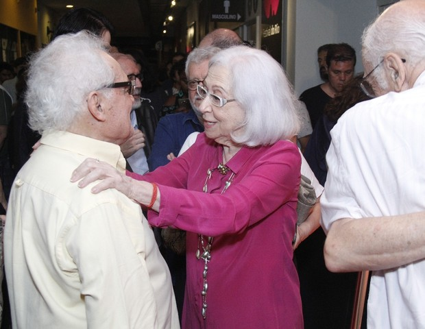 Othon Bastos e Fernanda Montenegro (Foto: Wallace Barbosa/AgNews)
