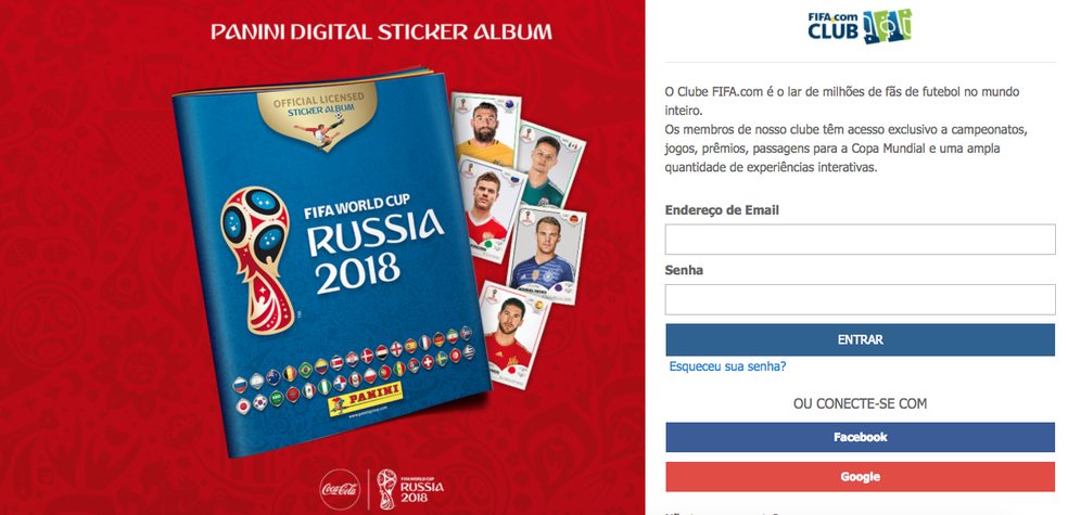 Como criar um perfil no Álbum Virtual da Copa do Mundo 2018 (Foto: Reprodução/Felipe Vinha)