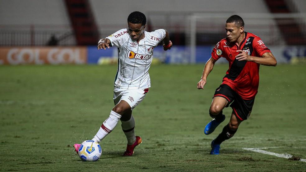 Kayky, atacante do Fluminense — Foto: Lucas Merçon FFC