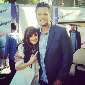 Blake Shelton e cantora Christina Grimmie (Foto: Instagram/ Reprodução)
