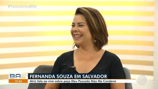 Atriz e apresentadora Fernanda Souza é a convidada do estúdio do BMD deste sábado (15)