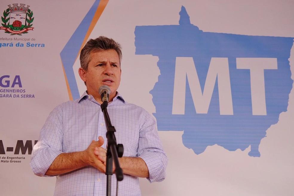 Mauro Mendes (DEM), governador de Mato Grosso — Foto: Mayke Toscano/Secom-MT