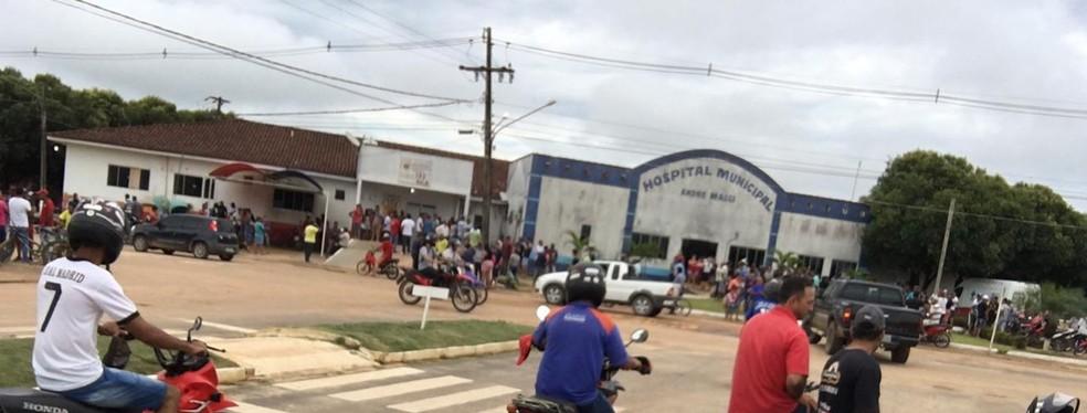 Três vítimas estão internadas no Hospital Municipal de Colniza — Foto: Divulgação