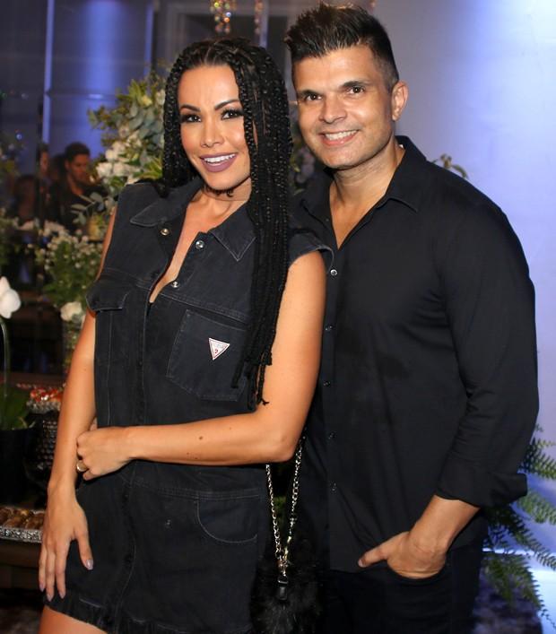 Fernanda D'Avila e o marido, Marcos Júnior (Foto: Thiago Duran/AgNews)