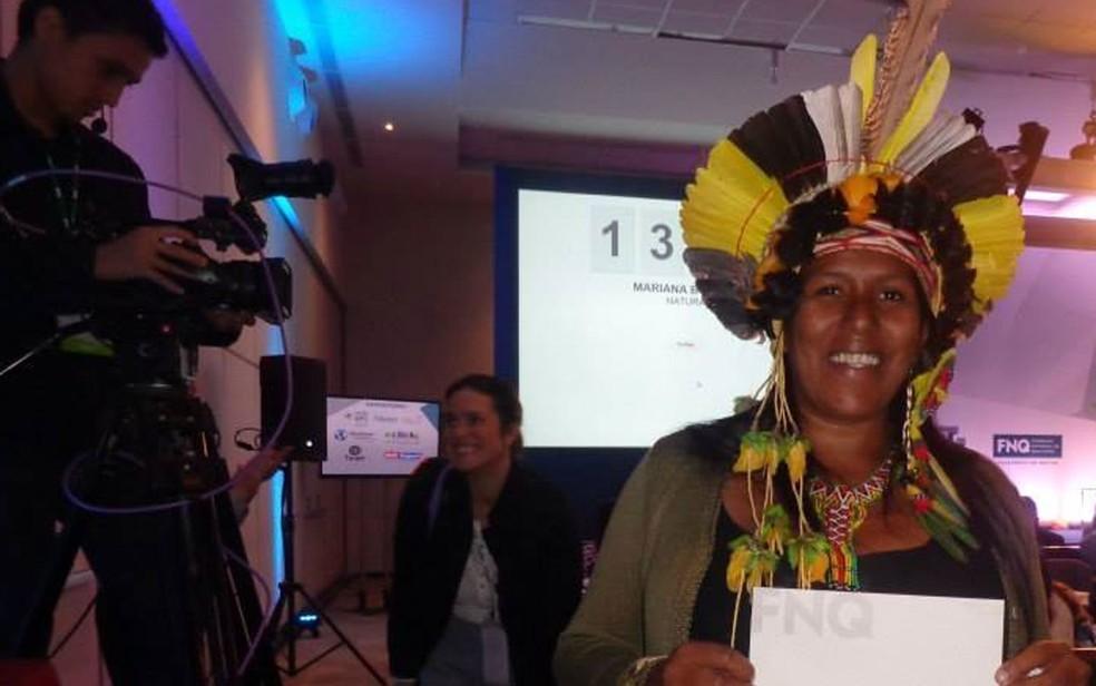Luena Maria Ferreira dos Santos atua como presidente da Associação de Pescadores de Coroa Vermelha, na Bahia — Foto: Arquivo pessoal