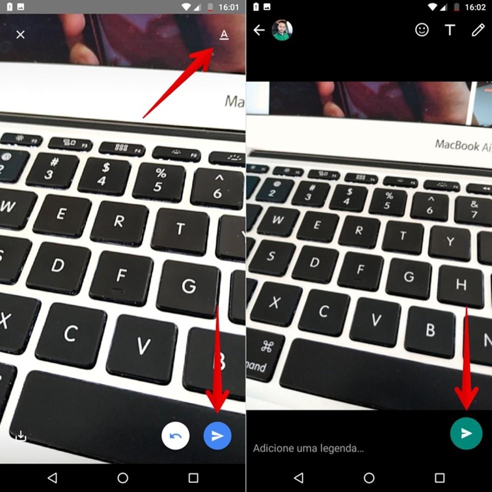 Edite e envie GIF no WhatsApp com o teclado Gboard — Foto: Reprodução/Helito Beggiora