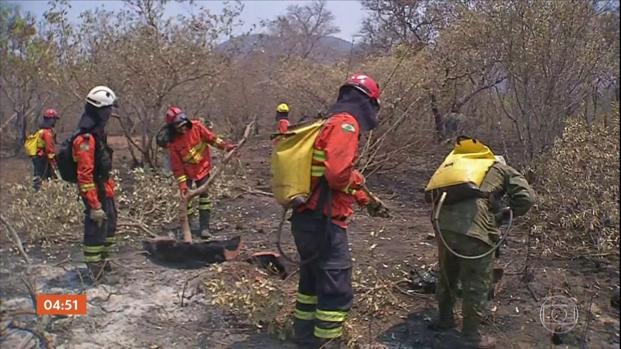 Bombeiros afirmam que fogo foi controlado no Pantanal do lado de Mato Grosso