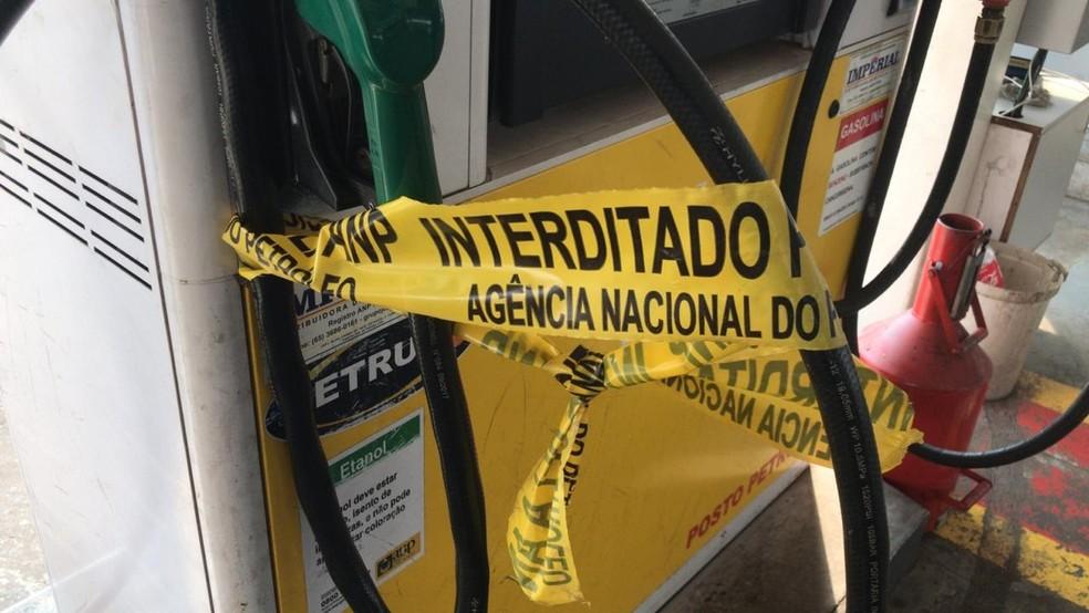 Operação encontra irregularidades em 8 postos de combustível na Grande Cuiabá — Foto: Polícia Civil de Mato Grosso/Assessoria