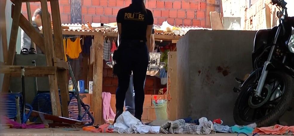 Suspeito que matou taxista foi linchado e morto por grupo de taxistas em Rondonópolis (Foto: TV Centro América)