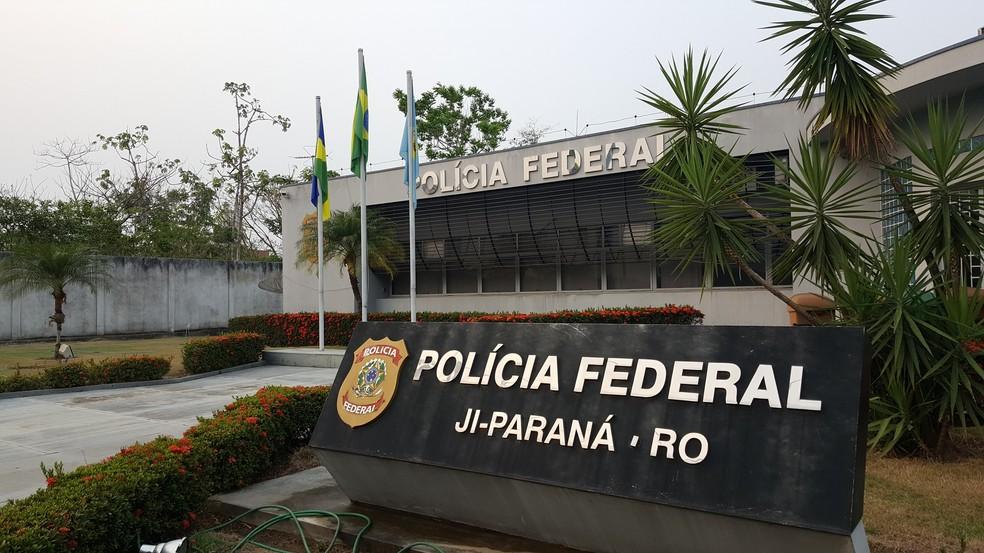 Polícia Federal de Ji-Paraná, RO (Foto: Marco Bernardi/G1)