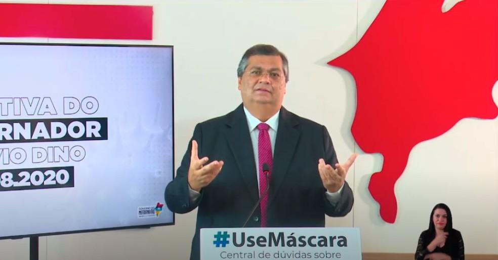 Flávio Dino afirma que inquérito sorológico será divulgado na segunda (24) para mensurar imunidade coletiva no Maranhão. — Foto: Reprodução/YouTube.