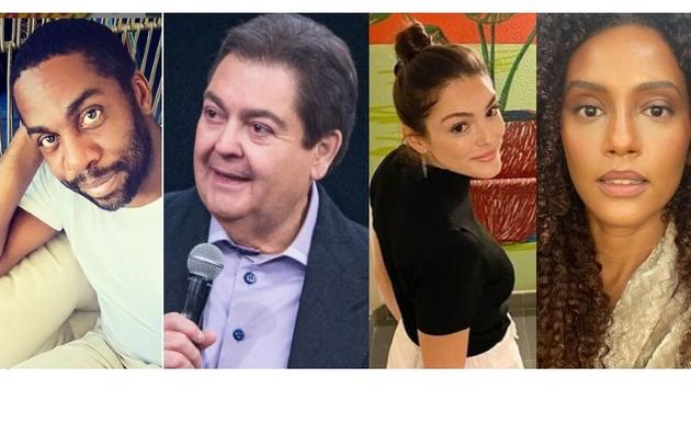 Lázaro Ramos, Taís Araujo e Isabelle Drummond são alguns dos famosos que contaram ao site as lembranças que têm com Fausto Silva (Foto: Reprodução e divulgação)