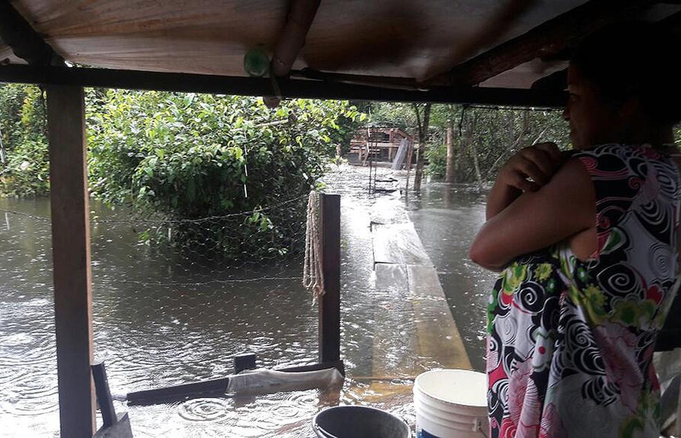 Aldeias ficaram completamente isoladas em Lagoa da Confusão (Foto: Divulgação/Defensoria Pública)