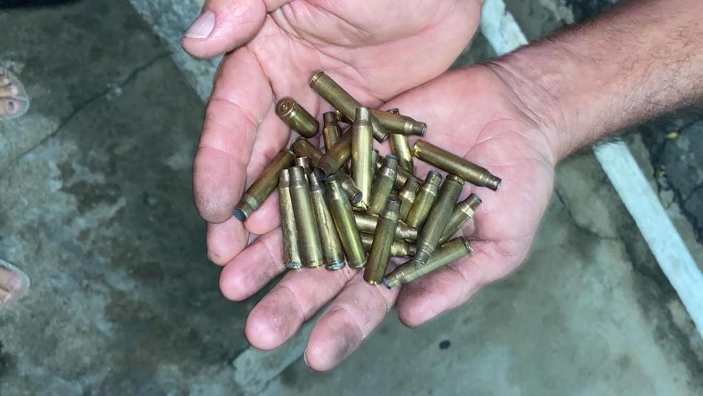 Munições encontradas nas proximidades da agência bancária — Foto: Divulgação /PM-PI