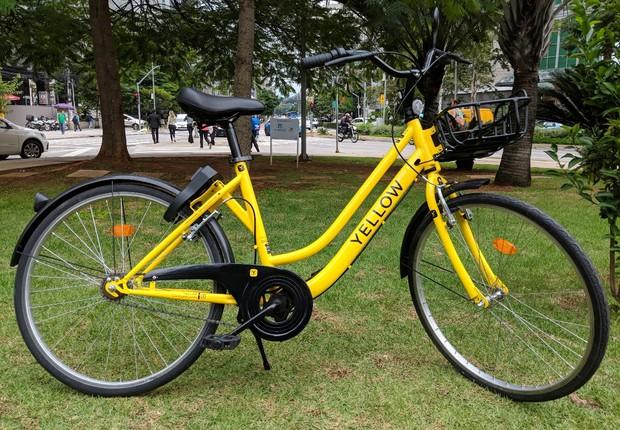 Bicicleta Yellow - bike-sharing - compartilhamento de bicicletas (Foto: Divulgação)