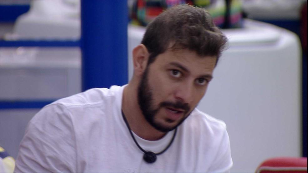 BBB21: Caio diz que não entende até agora o contragolpe de Juliette em Rodolffo no BBB21 — Foto: Globo