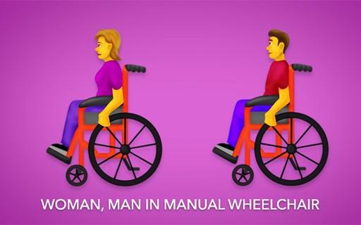 Novos emojis terão ícones para pessoas com deficiência