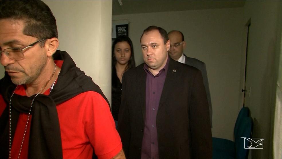 Tiago Bardal está preso suspeito de participar do grupo criminoso (Foto: Reprodução/TV Mirante)