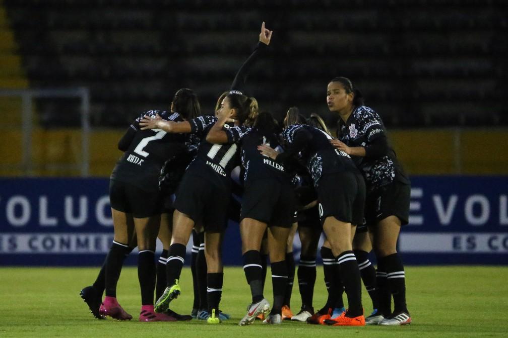 Corinthians na Libertadores Feminina, no Equador — Foto: Bruno Teixeira/Ag. Corinthians