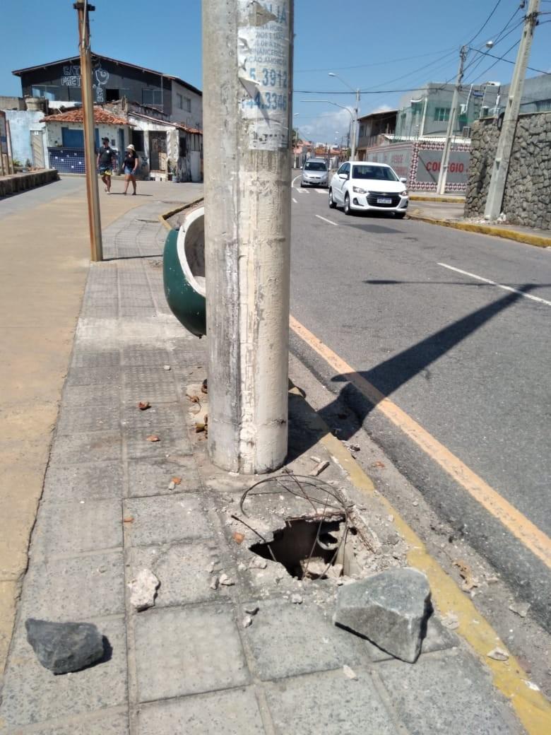 Orla de Olinda fica sem iluminação pública por causa de vandalismo em ao menos 34 postes