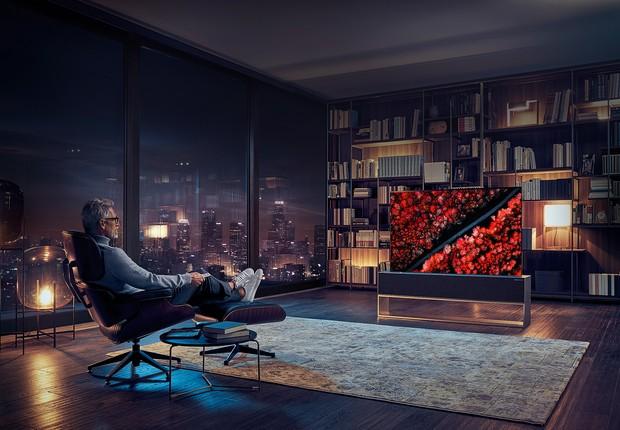 LG Signature OLED TV R foi apresentada pela LG na CES 2019 (Foto: Divulgação) (Foto: Divulgação/LG)