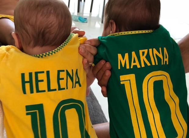 Ivete Sangalo postou foto das gêmeas na torcida (Foto: Reprodução/ Instagram)