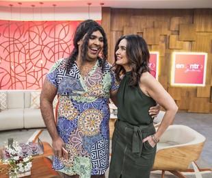 Fátima Bernardes grava o 'Se joga' com Paulo Vieira | Victor Pollak/TV Globo