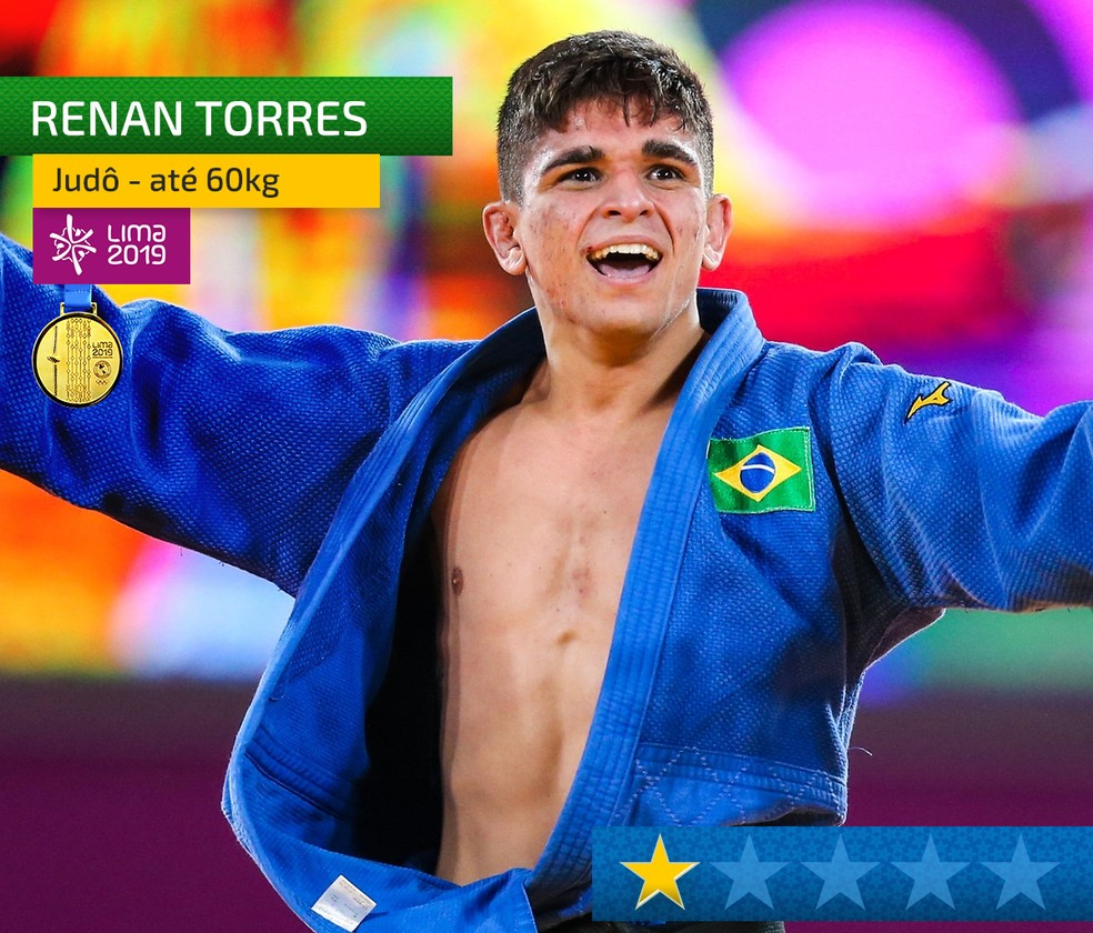 Peso do ouro - Renan Torres, do judô — Foto: InfoEsporte
