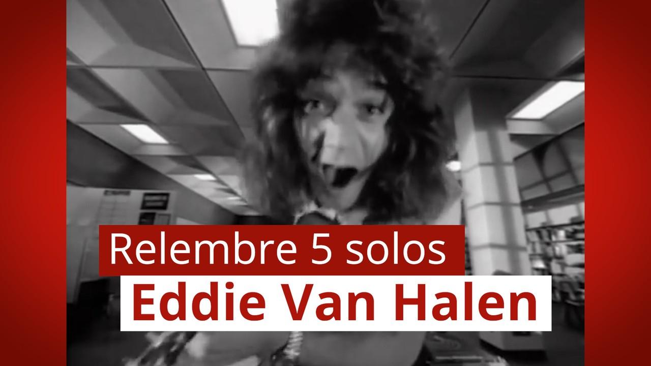 Relembre 5 solos marcantes de Eddie Van Halen