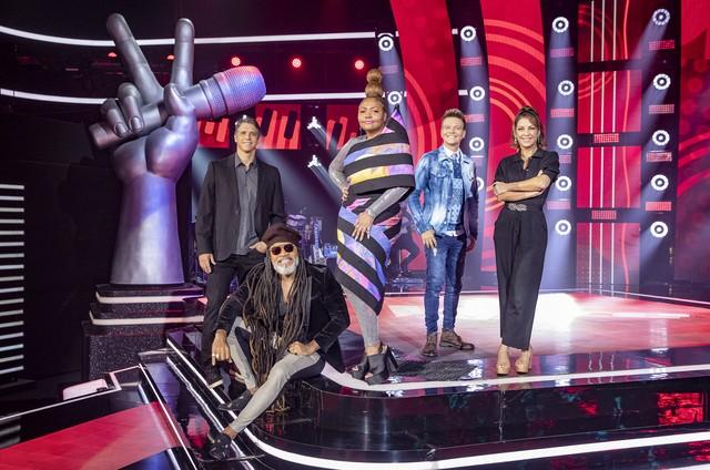 Marcio Garcia, Carlinhos Brown, Gaby Amarantos, Michel Teló e Thalita Rebouças (Foto: Fábio Rocha/Globo)