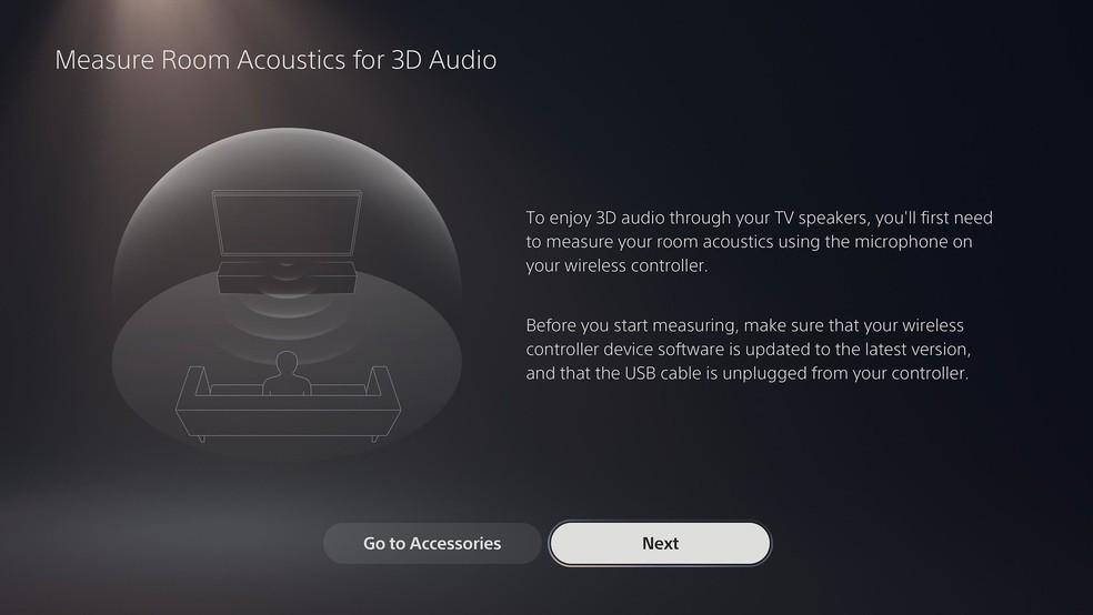 TVs em geral poderão usufruir do áudio tridimensional do PS5 com a nova atualização — Foto: Divulgação/Sony