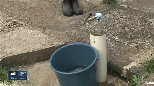 Moradores reclamam de falta de água em São Bernardo